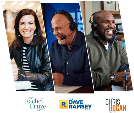 Dave Ramsey, Chris Hogan, and Rachel Cruze