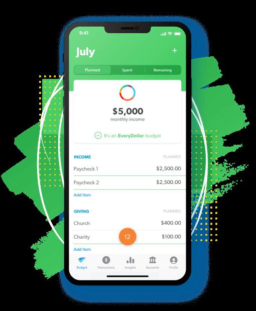EveryDollar App on Mobile Phone