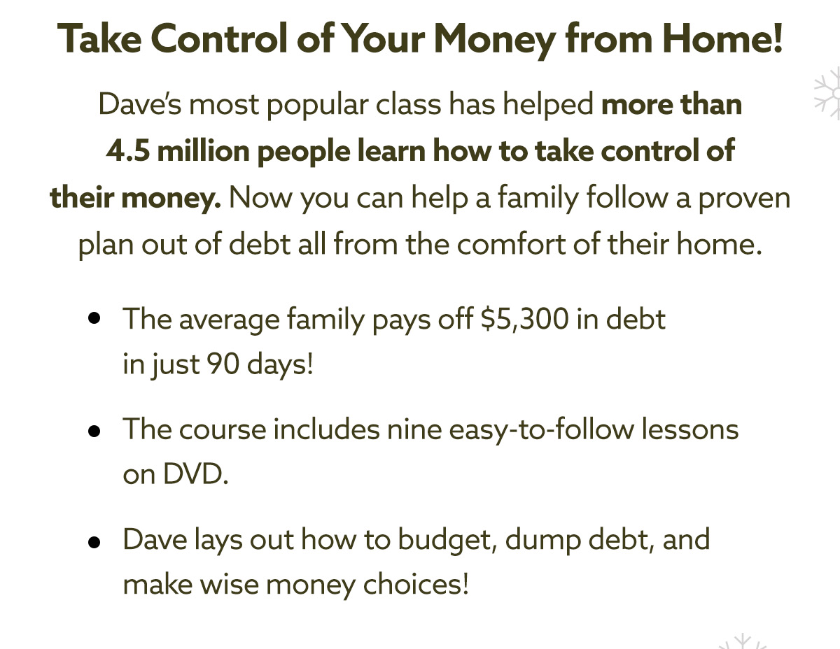 Take Control of Your Money from Home!