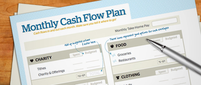 Free Download Monthly Cash Flow Plan – Budget Worksheet Dave Ramsey