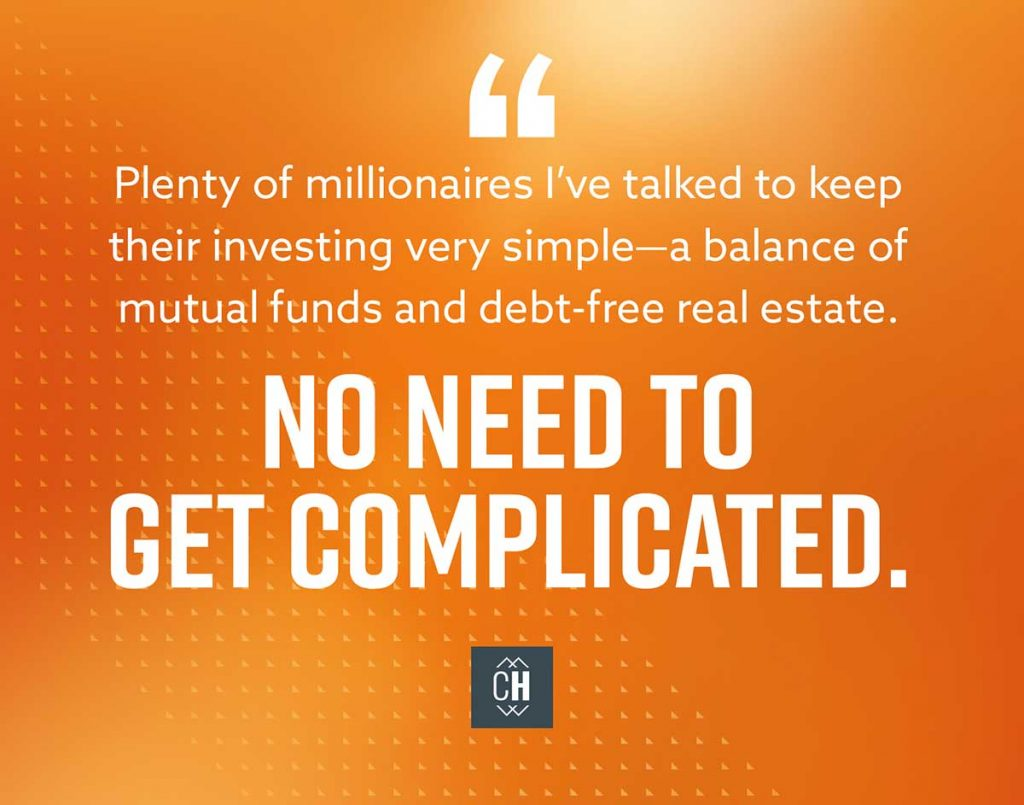 No need to make your investing complicated to become a millionaire