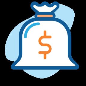 filing taxes icon