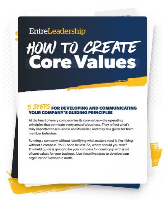 EntreLeadership Create Core Values