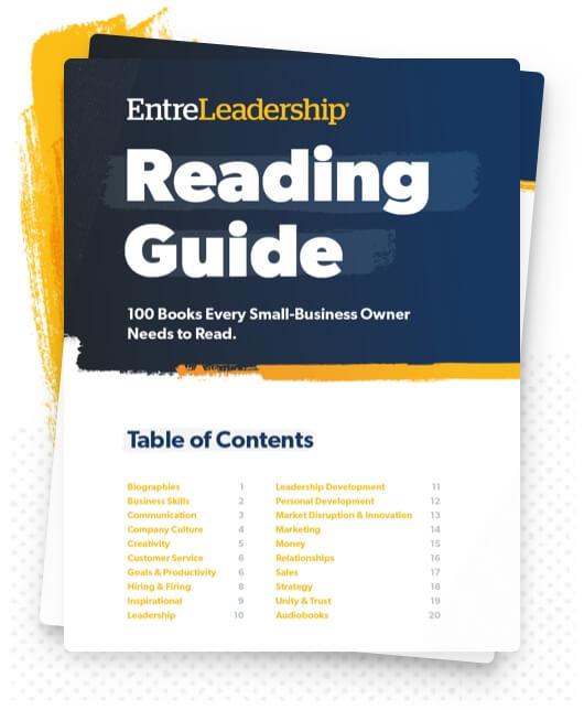 EntreLeadership Reading Guide
