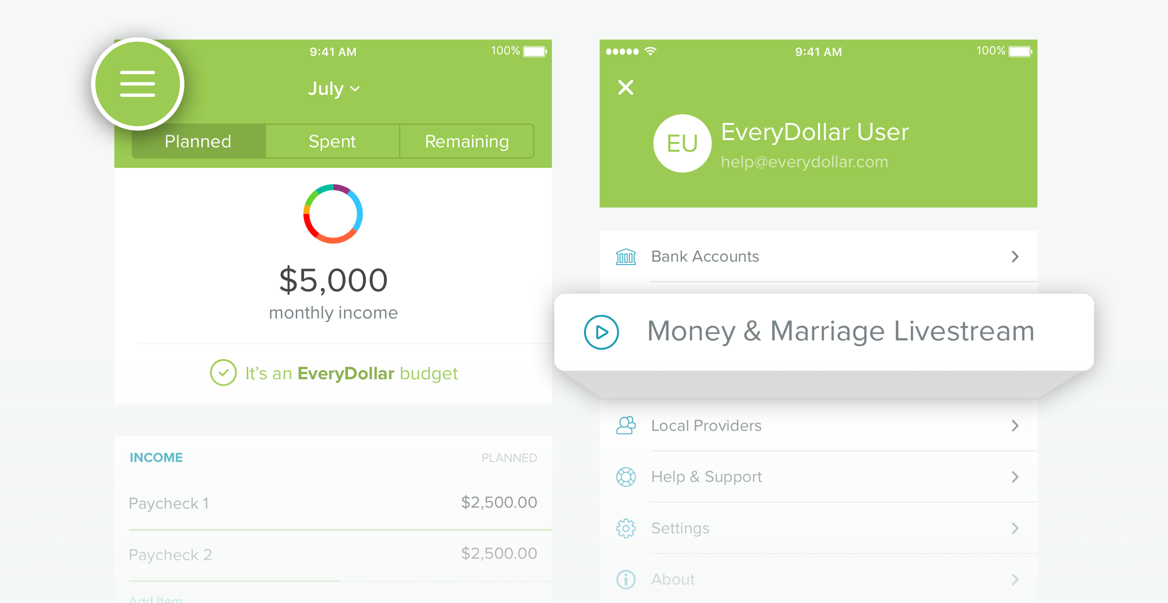 Watch the Money & Marriage Live Stream from your iOS or Android device