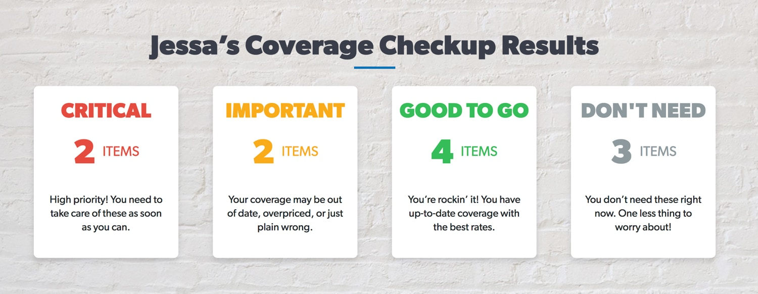 Sample coverage checkup results