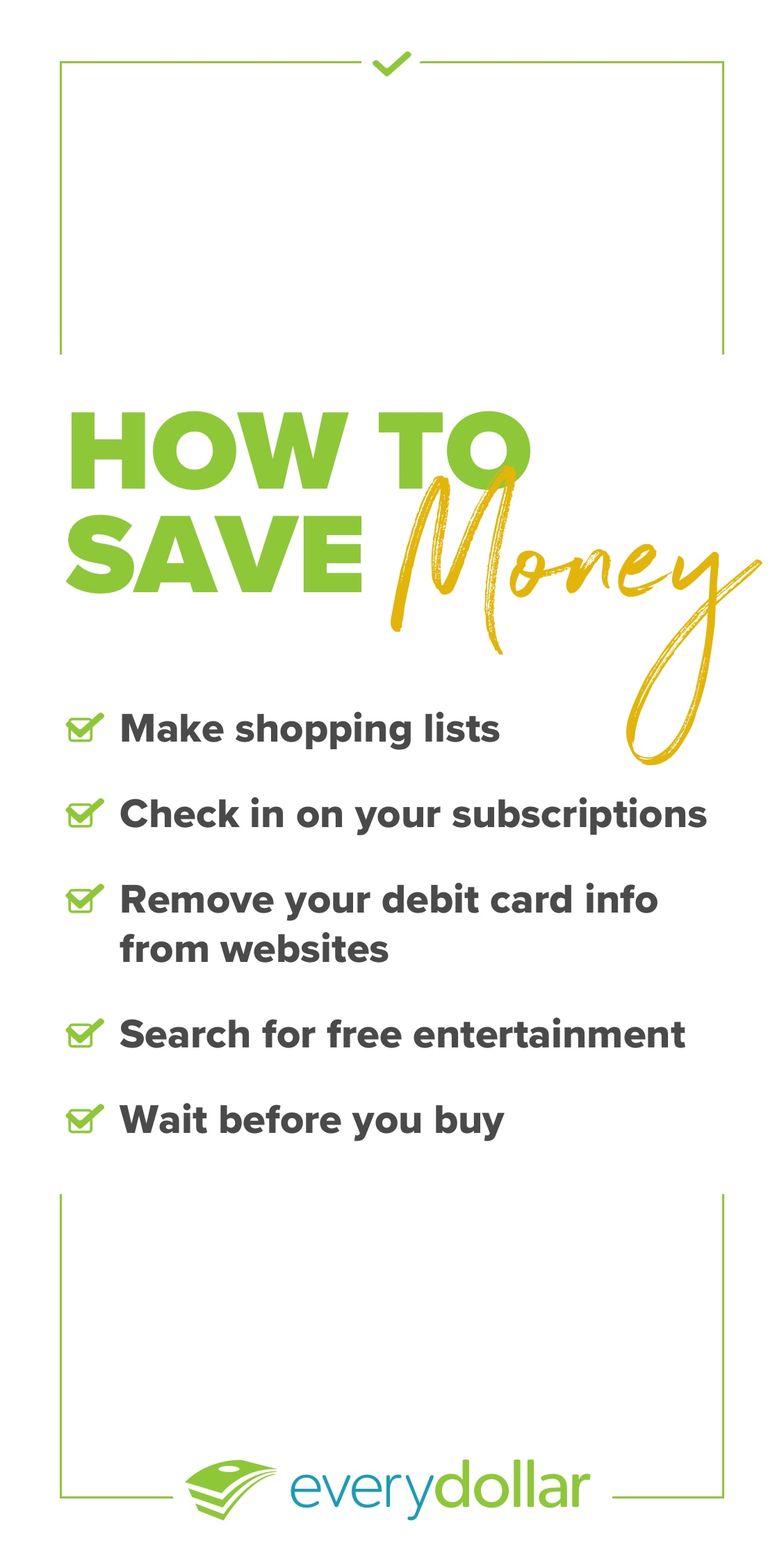 bca850a2a How to Save Money: 20 Simple Tips