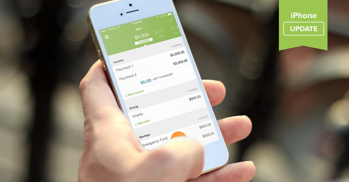 iPhone App Update: Copy Last Month's Budget, Add/Edit Items, and See What's Left to Budget