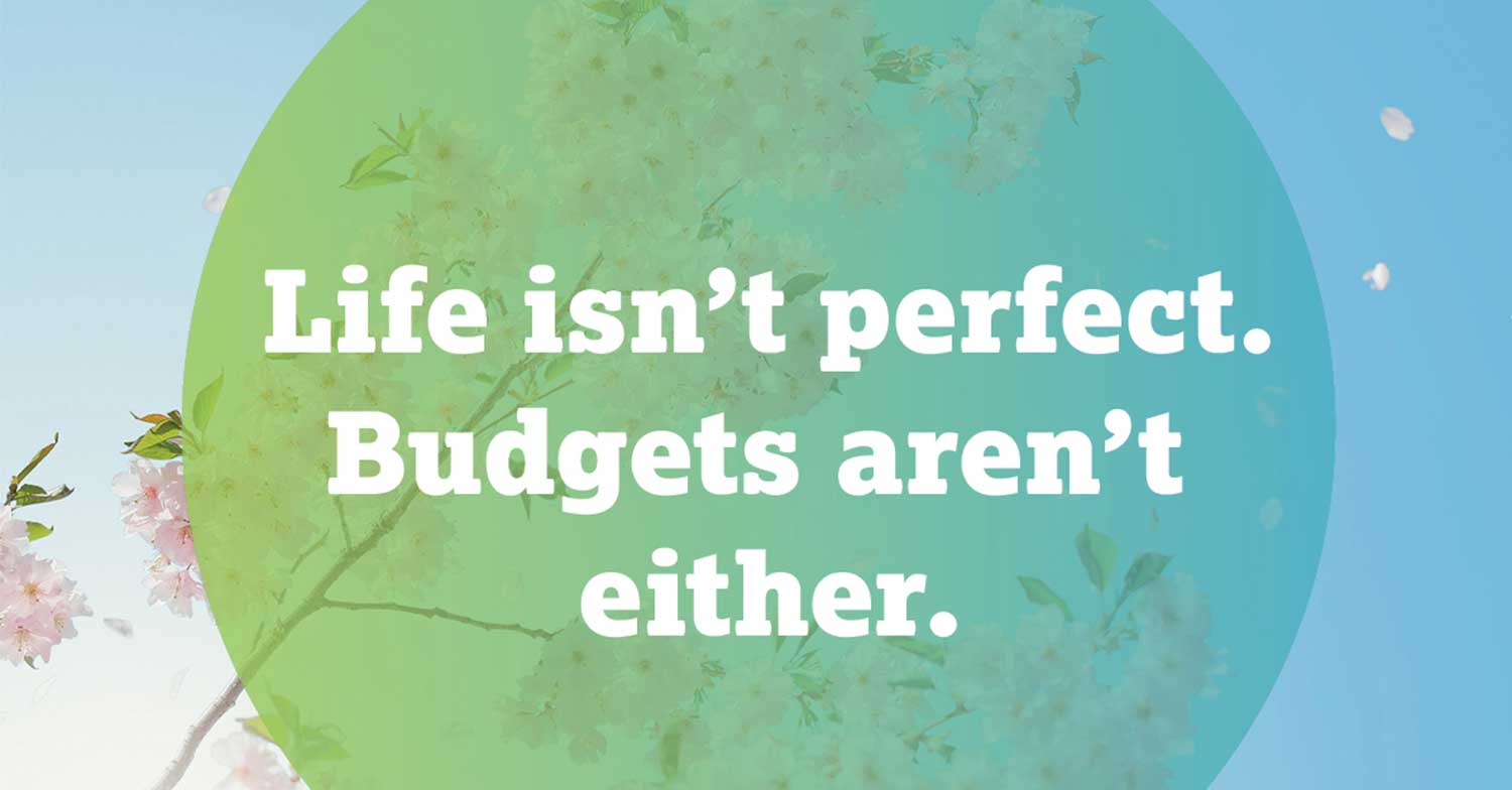 life isn't perfect, budget's aren't either