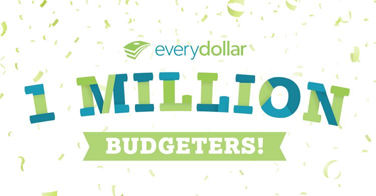 Everydollar Celebrates One Million Budgeters