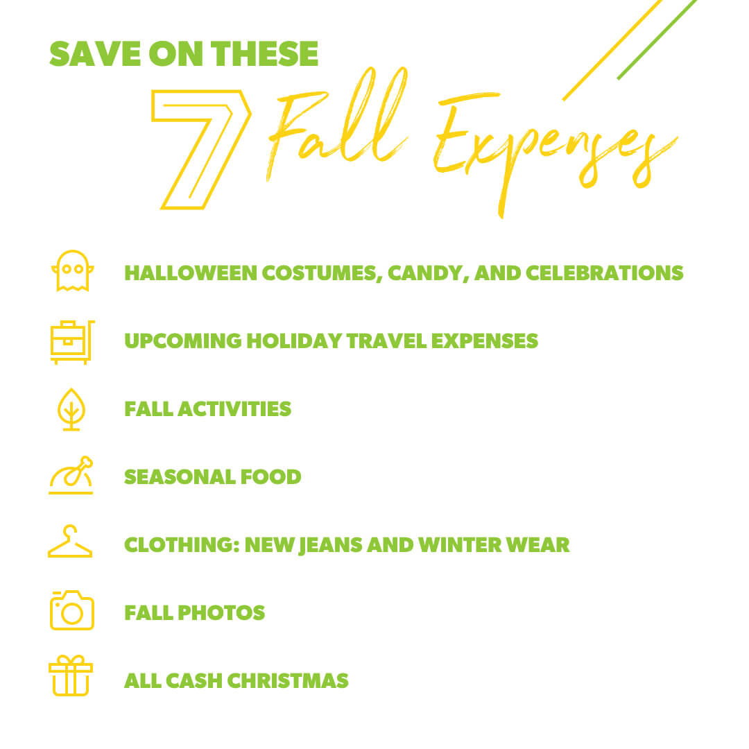 Infographic on saving for fall expenses