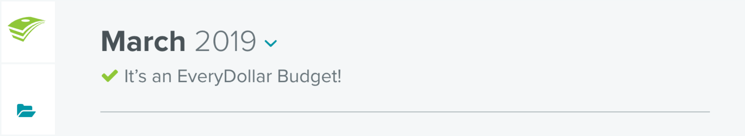 Confirmation that a user budgeted to zero