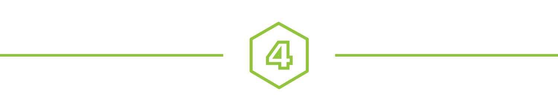 A 4 in a hexagon icon