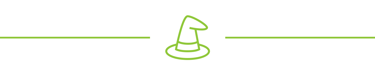 A pointed hat icon