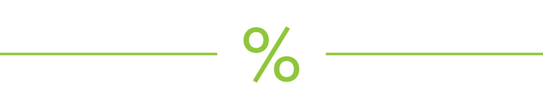 A percentage icon