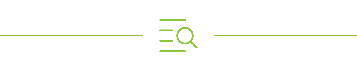 A magnifying glass over a list icon