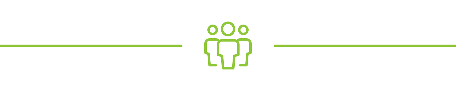 Three people standing together icon