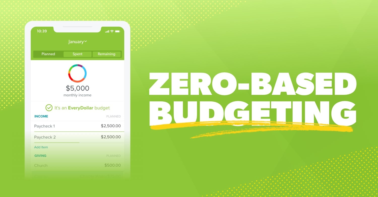 EveryDollar, the best zero-based budgeting app displayed on a smart phone.