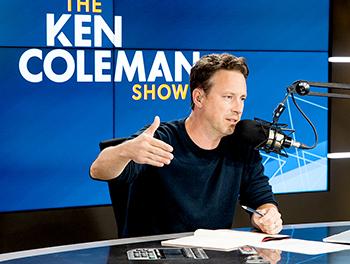 Ken Coleman on air on The Ken Coleman Show
