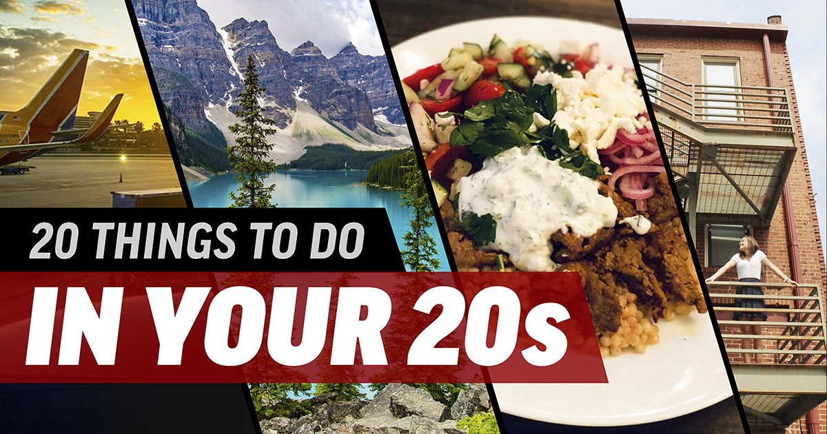 Collection of things to do in your 20s