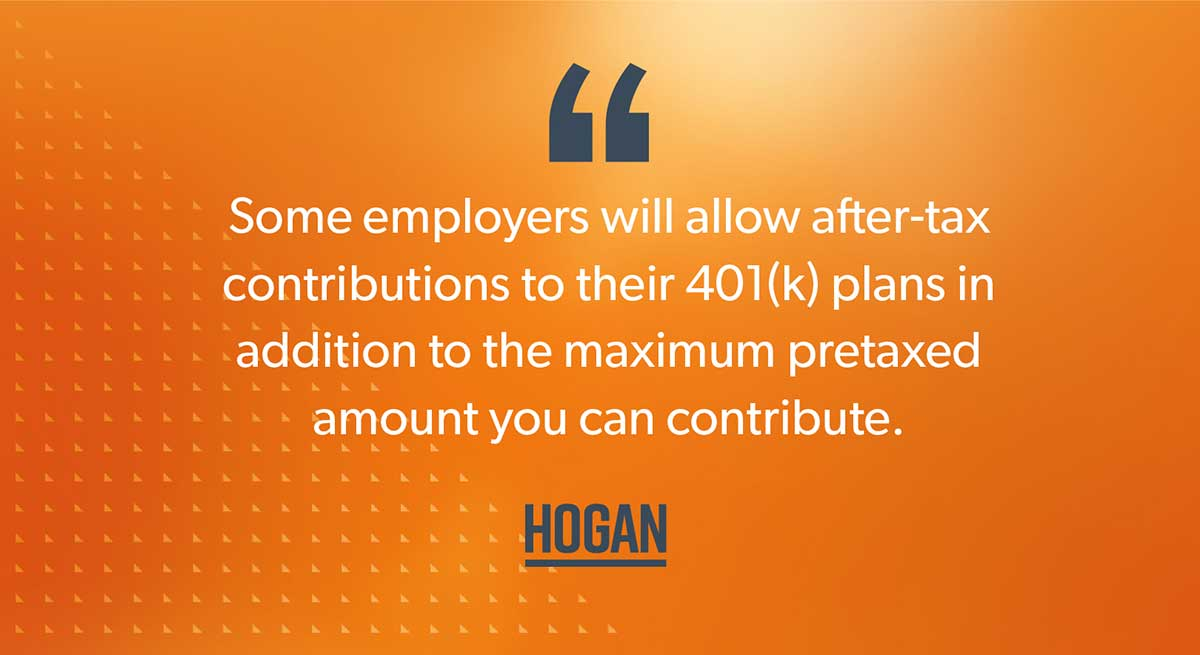 A quote that says some employers will allow you to make after-tax contributions to your 401(k).