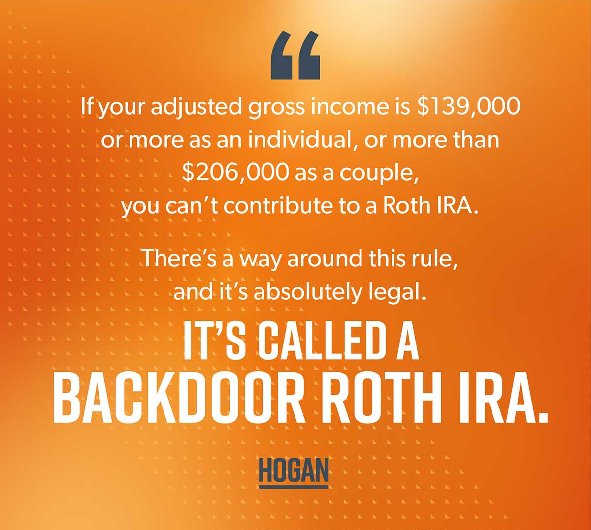 An image explaining a backdoor roth IRA.