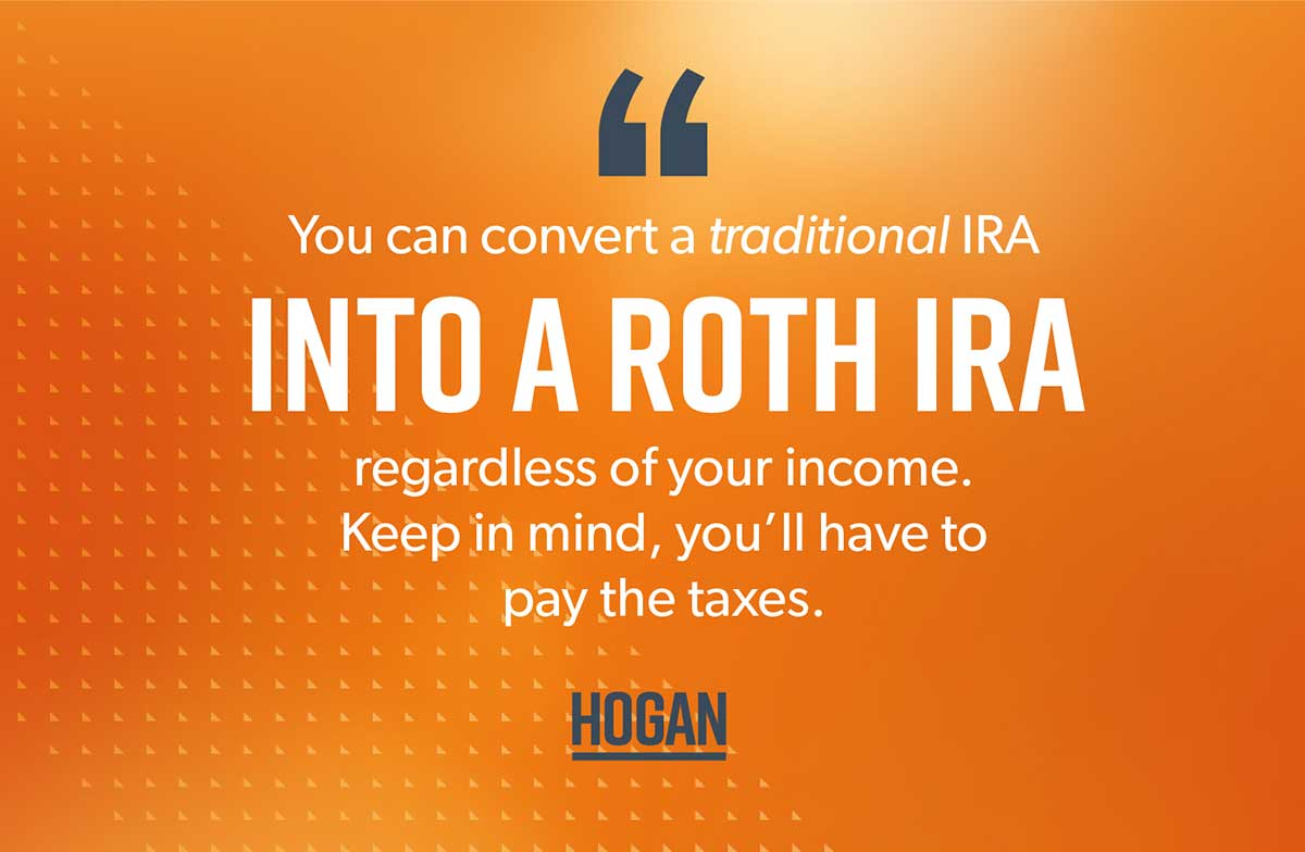 An image explaining how to convert a traditional IRA to a Roth.