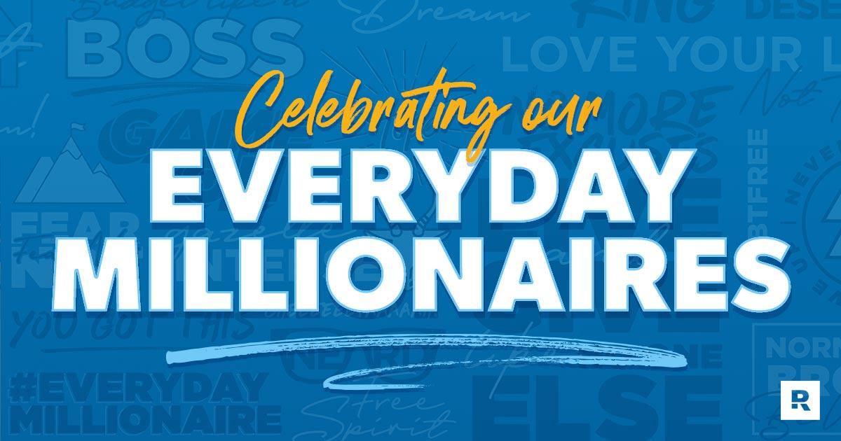 Chris Hogan celebrates his everyday millionaires.