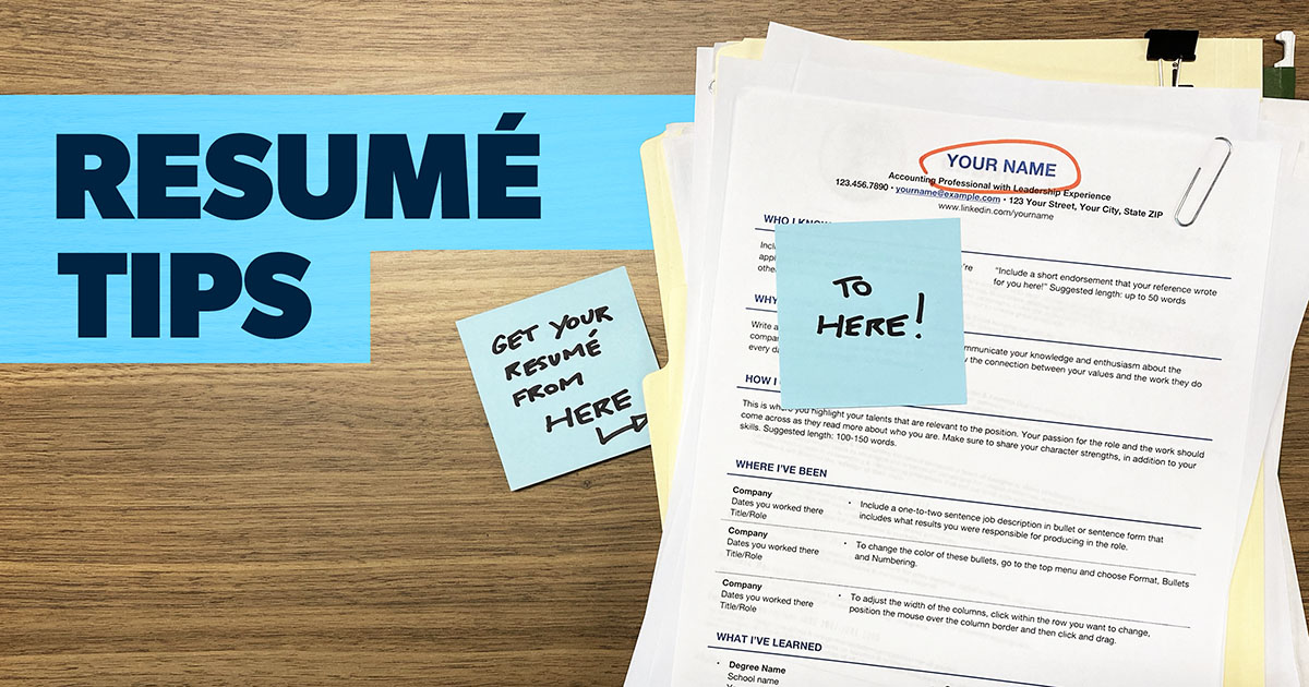 12 Resume Tips How To Create A One Page Wonder Daveramsey Com