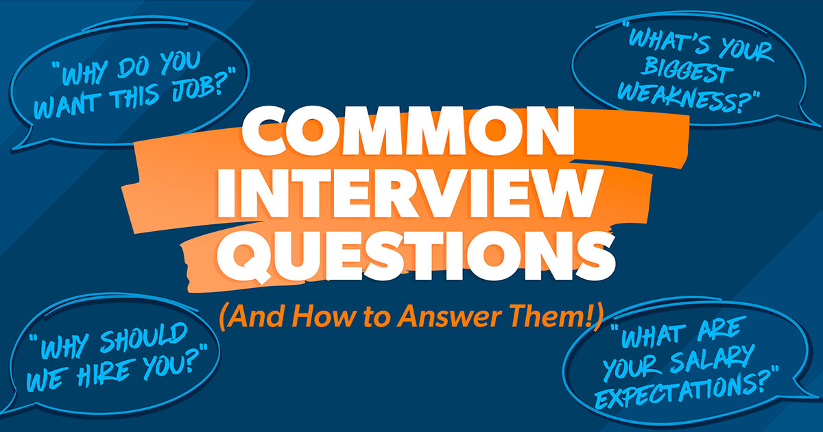 15 Common Job Interview Questions And Answers | DaveRamsey.com
