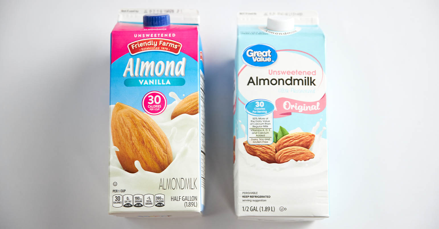Aldi vs Walmart Almond Milk