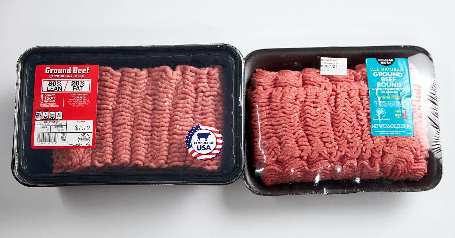 Aldi vs Walmart Ground Beef