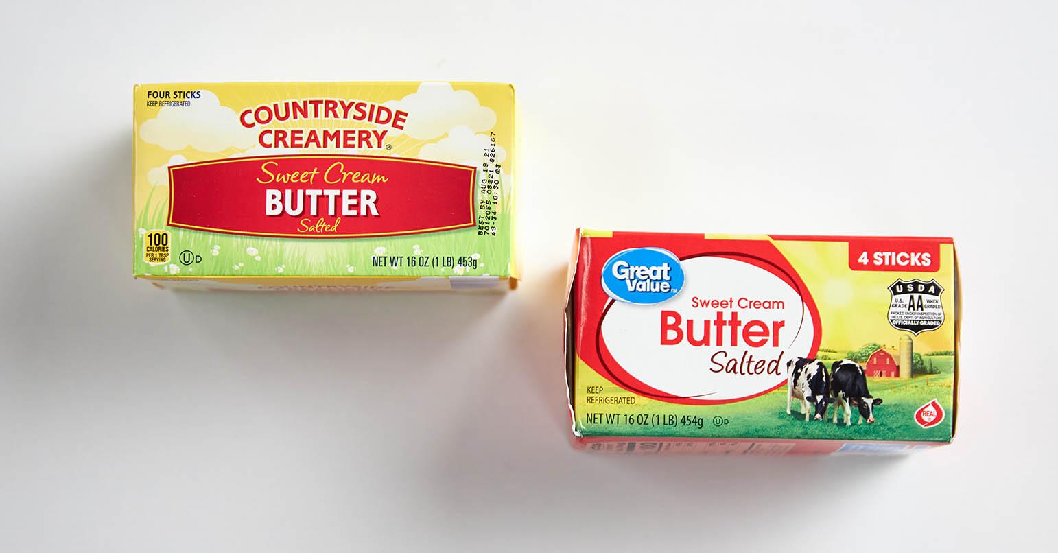 Aldi vs Walmart Butter