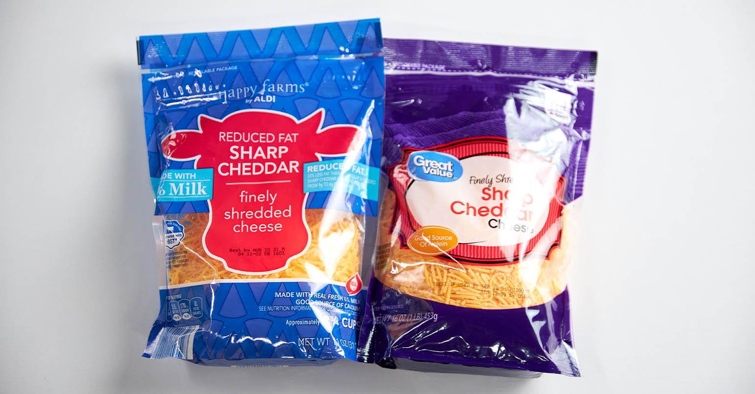 Aldi vs Walmart Cheese