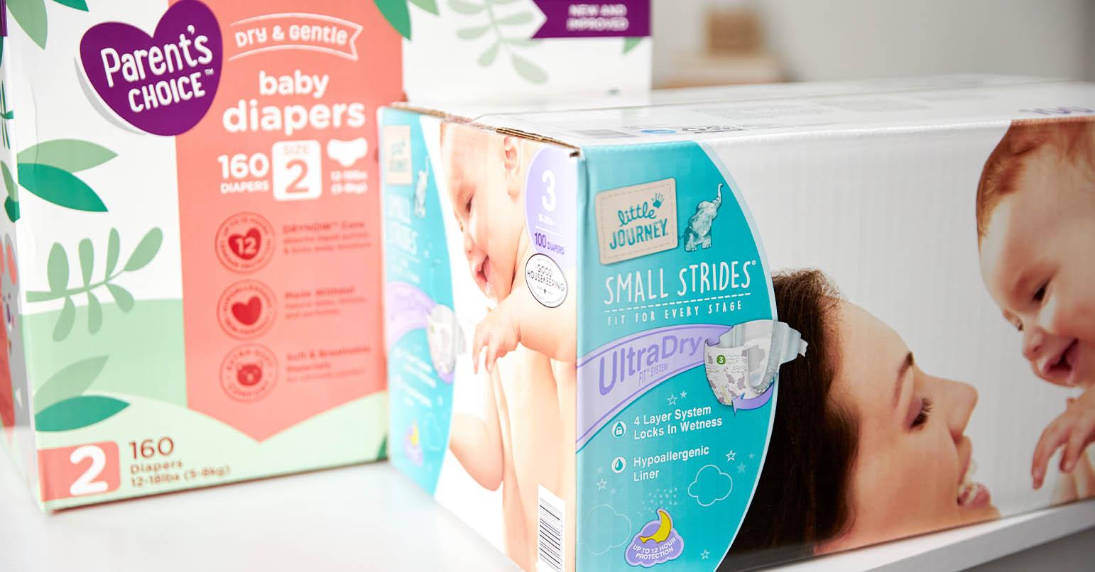Aldi vs Walmart Diapers