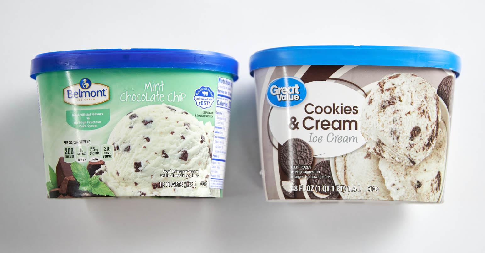 Aldi vs Walmart Ice Cream