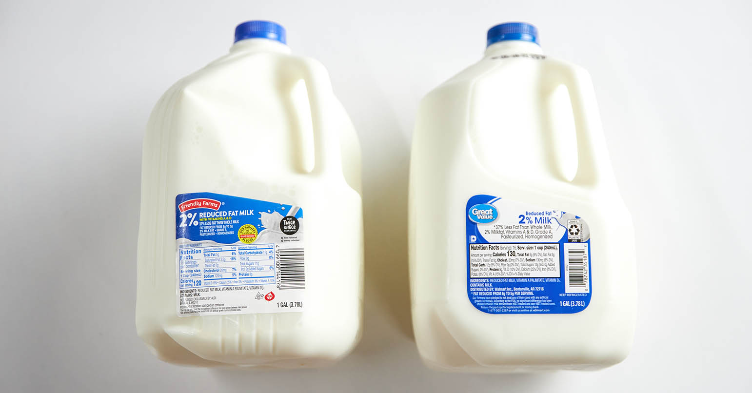 Aldi vs Walmart Milk