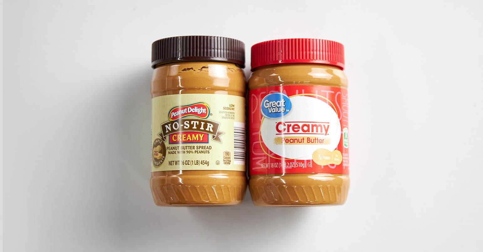 Aldi vs Walmart Peanut Butter