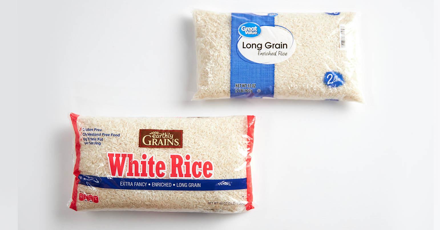 Aldi vs Walmart Rice