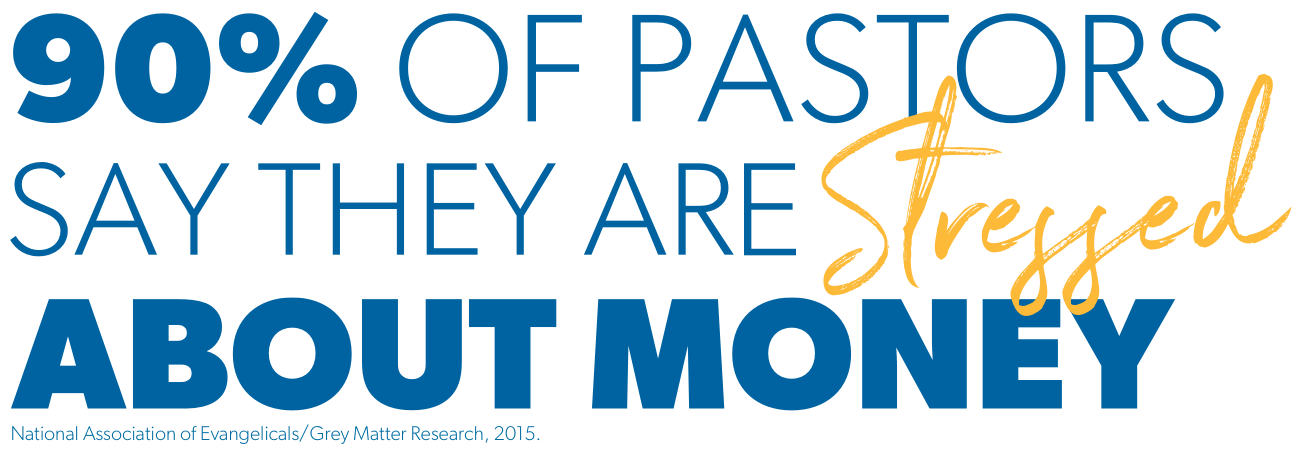 90% of pastors say they are stressed about money