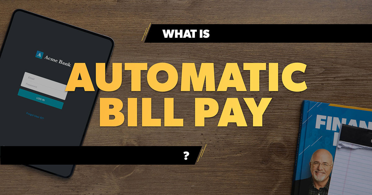Automatic Bill Pay