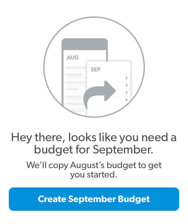 Make a new budget in EveryDollar