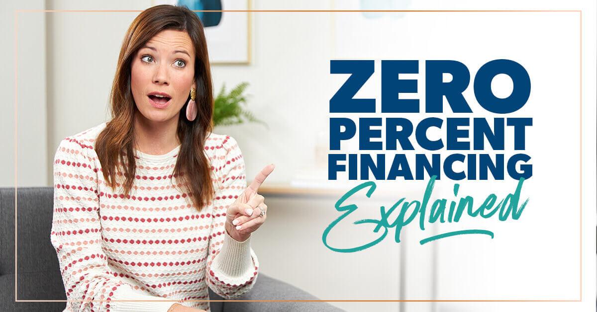 zero percent financing