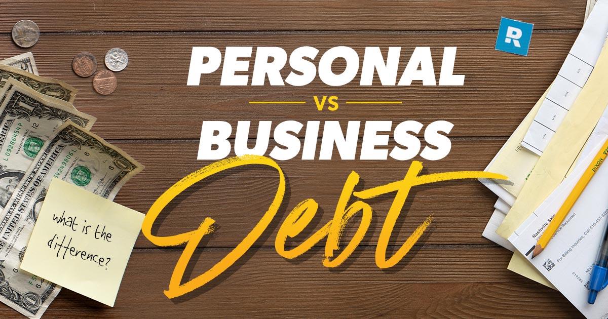 personal vs business debt