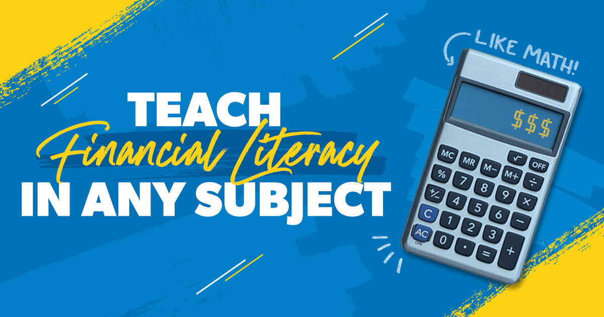 Teach financial literacy in any subject