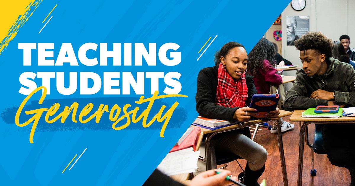 Teaching Students Generosity