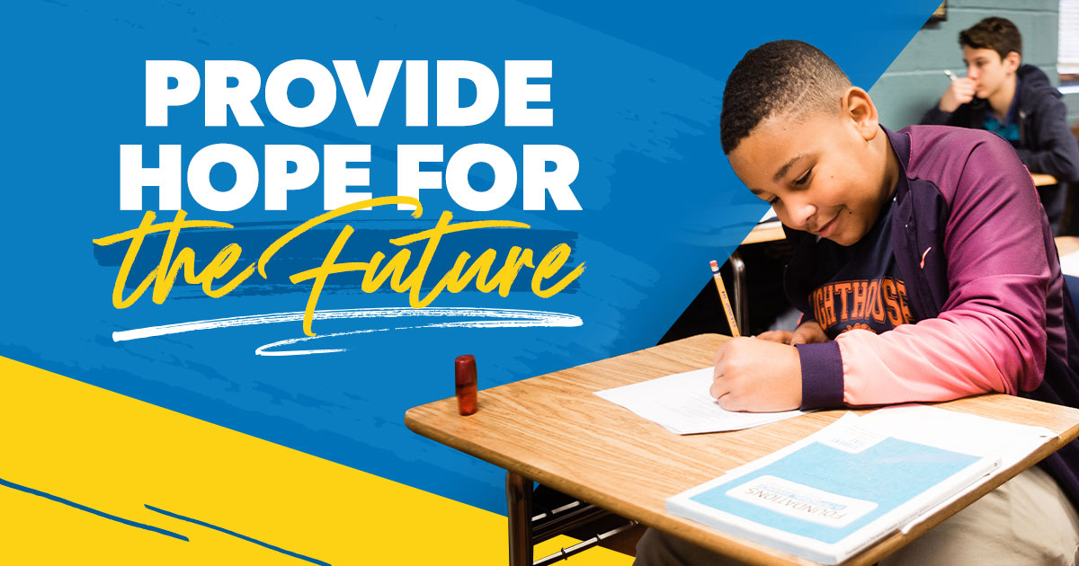 Provide hope for the future