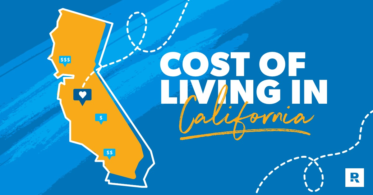 Cost of living in California graphic.