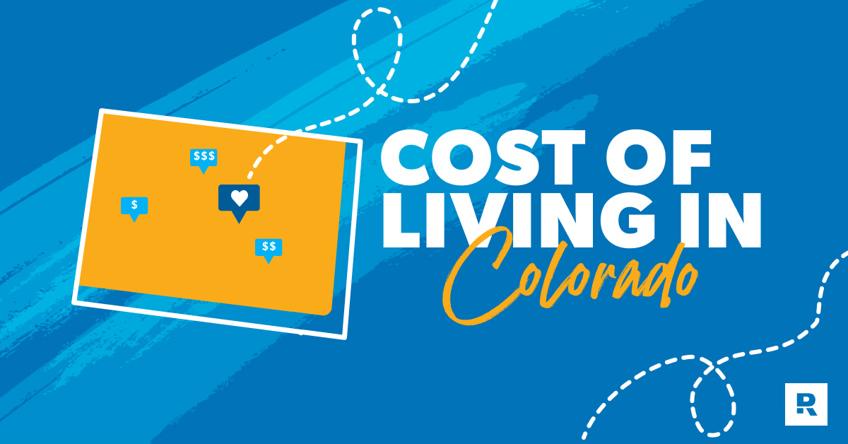 Graphic of a cost of living in Colorado.