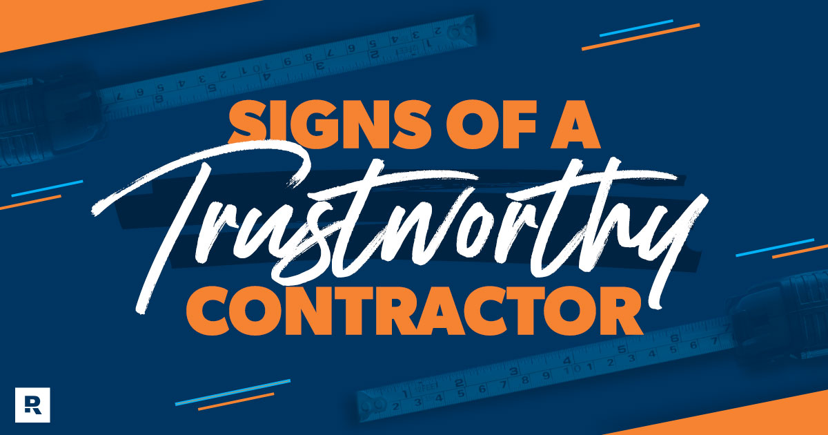 signs of a trustworthy contractor